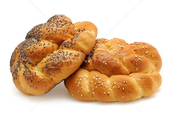 Isolado branco comida pão café da manhã Foto stock © serg64