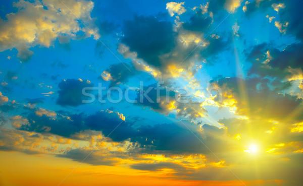 красивой ярко закат небесный небе весны Сток-фото © serg64