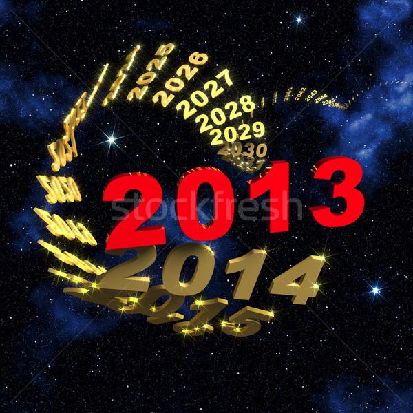 2013 capodanno spirale tempo testo Foto d'archivio © serge001