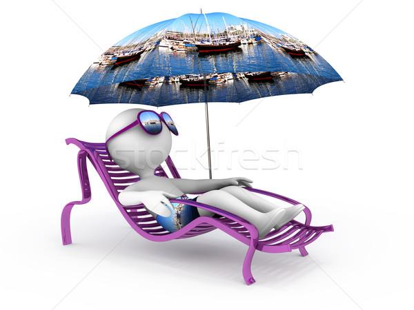 Summer vacation: sea yachts and sailing Stock photo © serge001