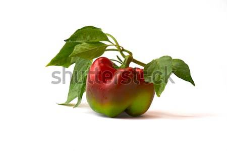 Underripe red pepper isolated on white background Stock photo © serge001