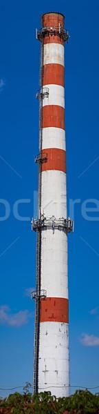 промышленных кирпичных дымоход сотовых оборудование Blue Sky Сток-фото © serge001