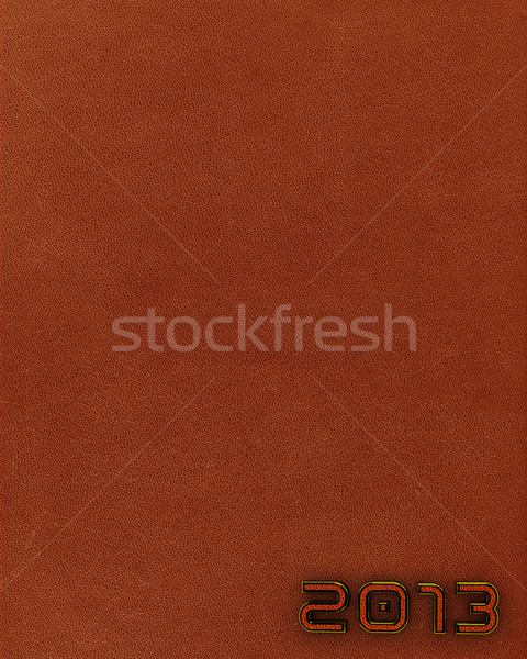 Leather new year 2013 background. Brown. Stock photo © serge001