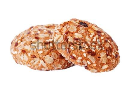 Due cookies bianco semi uvetta Foto d'archivio © serpla