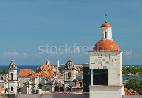 表示 ハバナ 歴史的 センター 灯台 家 ストックフォト © serpla