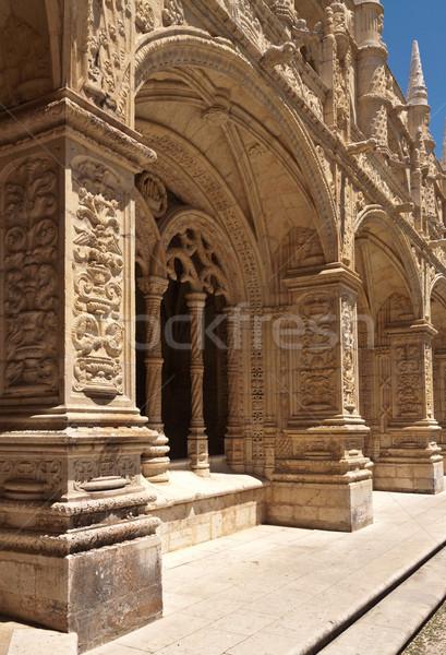Dettaglio galleria monastero Lisbona Portogallo cielo Foto d'archivio © serpla