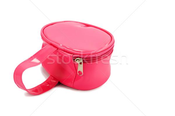 Rosa ragazzi bag isolato bianco shopping Foto d'archivio © serpla