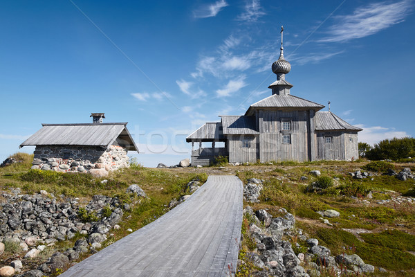 Church in honor of St. Andrew on Bolshoi Zayatsky island Stock photo © serpla