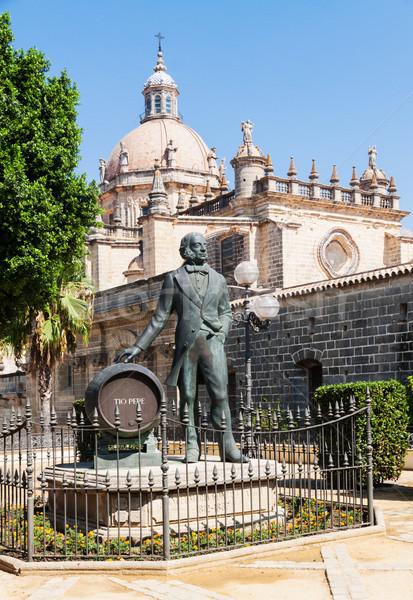 Statue of Tio Pepe near Cathedral in Jerez de la Frontera, Spain Stock photo © serpla