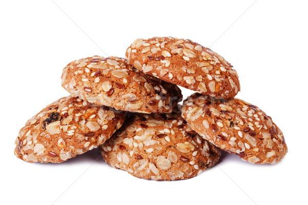 Cinque cookies bianco mais dessert Foto d'archivio © serpla