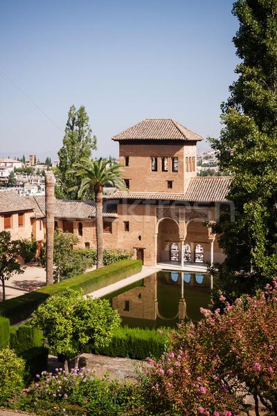 Giardini alhambra Spagna fiore acqua estate Foto d'archivio © serpla