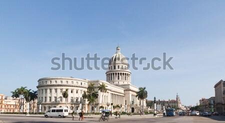 épület Havanna Kuba építészet klasszikus stílus Stock fotó © serpla