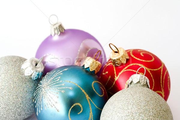Natale poco profondo vetro sfondo divertimento Foto d'archivio © serpla