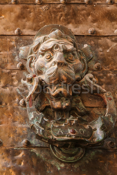 Old door knocker Stock photo © serpla