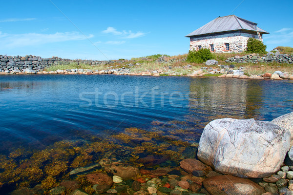 Artificial bay in front of Chamber on Bolshoi Zayatsky island Stock photo © serpla