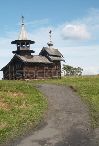 Chiesa settentrionale Russia cielo albero panorama Foto d'archivio © serpla