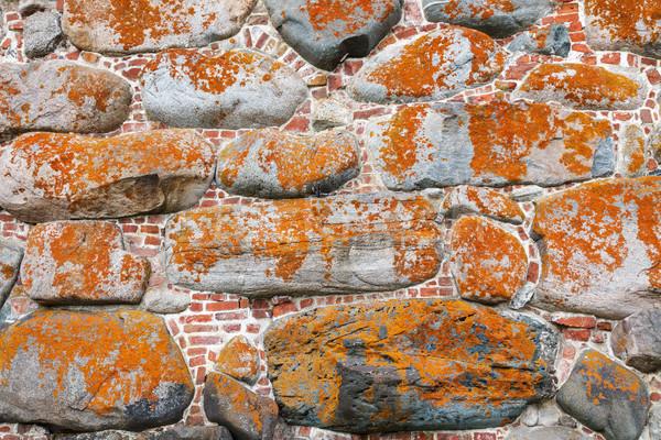 Old stone and brick wall Stock photo © serpla