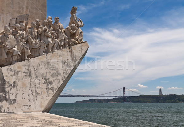 Fragment of Monument to Discoveries (Padrao dos Descobrimentos), Stock photo © serpla