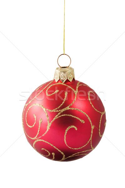 Impiccagione rosso Natale gingillo ornamento isolato Foto d'archivio © serpla