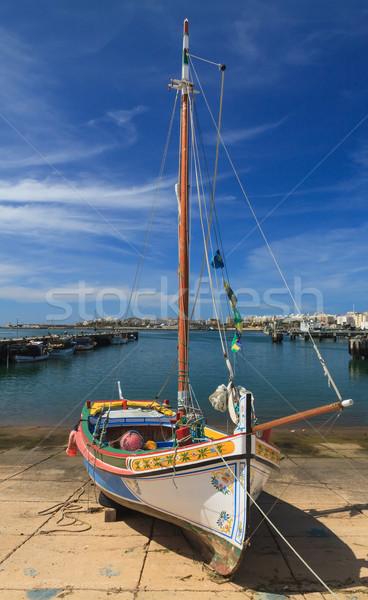 Yacht porto Portogallo piccolo spiaggia acqua Foto d'archivio © serpla