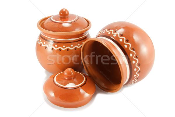 Due rosolare argilla ceramica isolato Foto d'archivio © serpla
