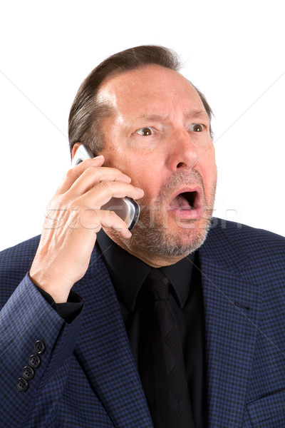 Upset Elderly Businessman Stock photo © sframe
