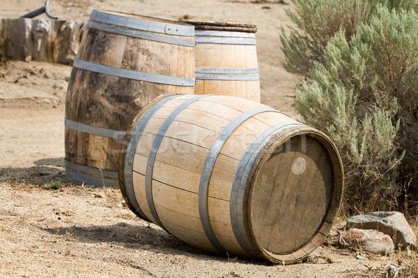 古い 木製 ストレージ 外 地上 ワイン ストックフォト © sframe