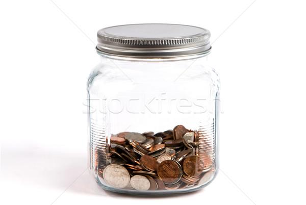 コイン 変更 jarファイル スペア コイン ストックフォト © sframe