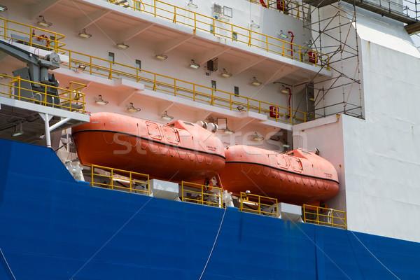 船 オレンジ 生存 座る デッキ 産業 ストックフォト © sframe