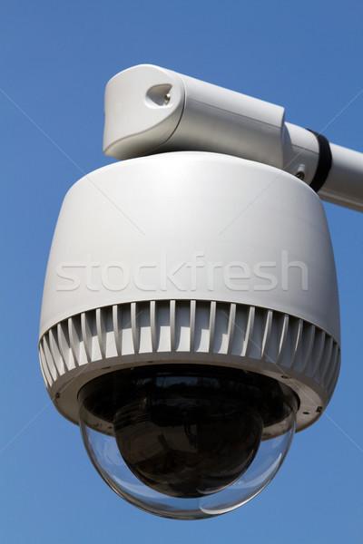 Aparatu bezpieczeństwa zewnątrz Błękitne niebo niebo technologii bezpieczeństwa Zdjęcia stock © sframe