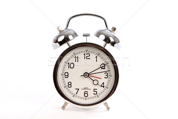 目覚まし時計 クロム ハンマー 先頭 白 ストックフォト © sframe
