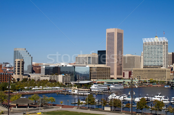 Port centre-ville Maryland ville Skyline Photo stock © sframe