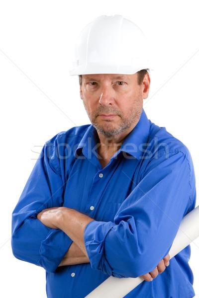 строительство пожилого здании планов пенсия Сток-фото © sframe