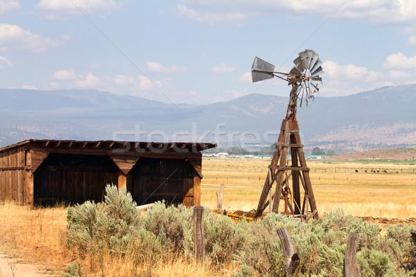 Water Pumping Windmill Stock photo © sframe