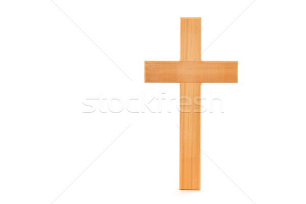 木製 クロス 穀物 立って 白 イエス ストックフォト © sframe