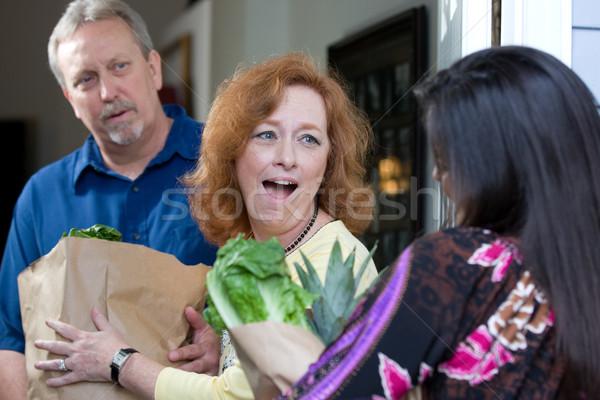 продовольствие голодный посмотреть удивление эмоций лицах Сток-фото © sframe