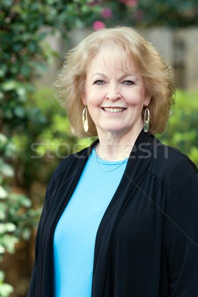 счастливым старший взрослый привлекательный женщину улыбается Сток-фото © sframe