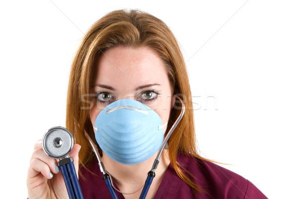 Сток-фото: женщину · медсестры · стетоскоп · женщины