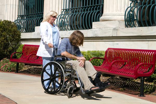 Nurse Disabled Patient Stock photo © sframe