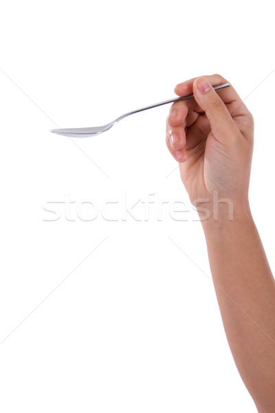 Hand Holding Spoon Stock photo © sframe