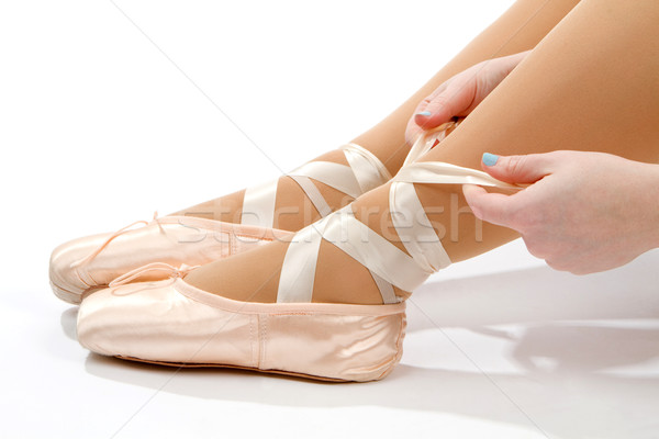 バレエ スリッパ 女性 ダンサー ピンク ストックフォト © sframe