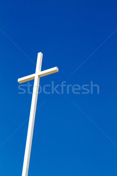 クロス 青空 クリスチャン 鋼 青 聖書 ストックフォト © sframe