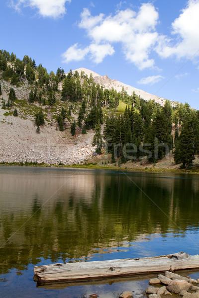 Zümrüt göl yansımalar volkanik park Kaliforniya Stok fotoğraf © sframe