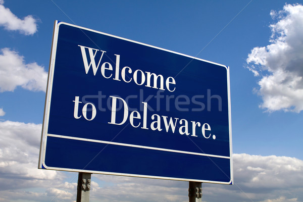 Welcome To Delaware Sign Stock photo © sframe