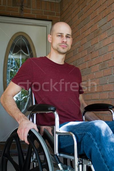 無効になって 男 ホーム 病気 車いす ストックフォト © sframe