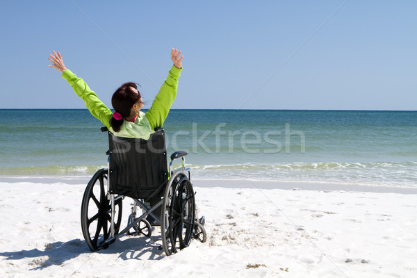Woman Successful Disabled Stock photo © sframe
