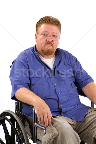 человека коляске печально избыточный вес инвалидов медицинской Сток-фото © sframe