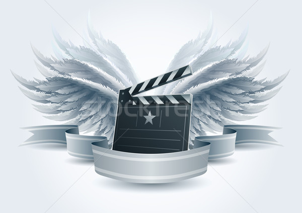 Winged clapboard banner. Stock photo © sgursozlu