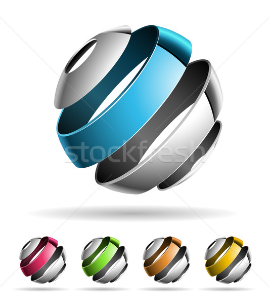 3d abstract design elements 1 Stock photo © sgursozlu