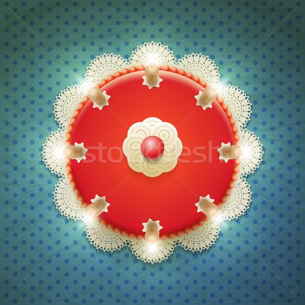 üst görmek kek vektör büyük kırmızı Stok fotoğraf © sgursozlu